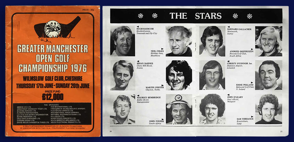 Greater Manchester Open 1976 Programme