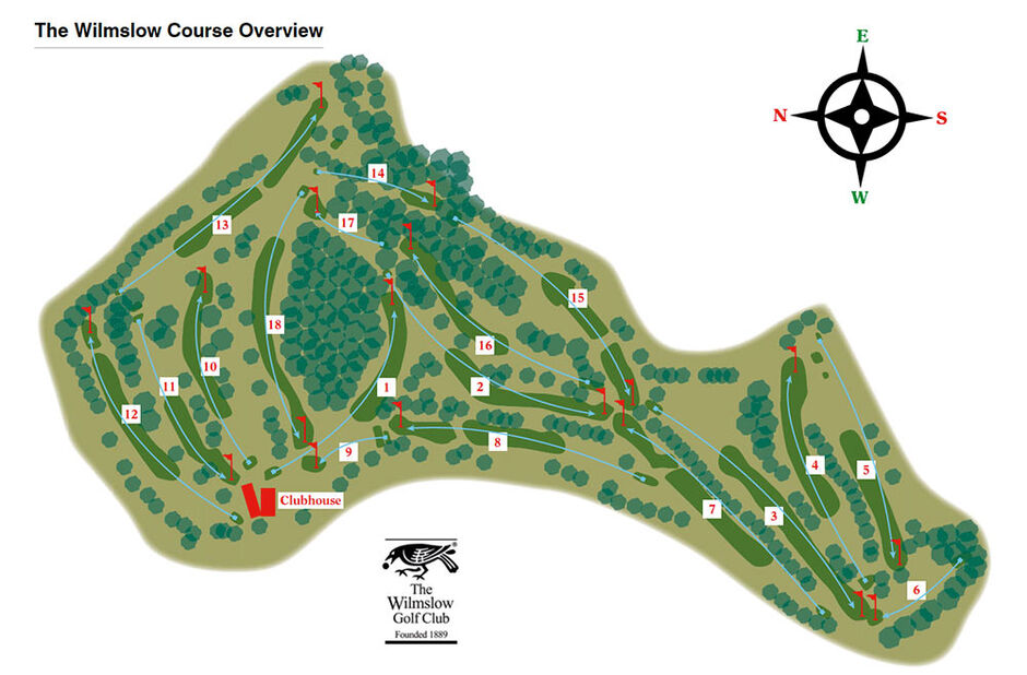Wildmlsow Golf Club Layout